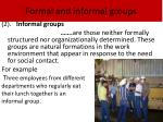 formal and informal groups1