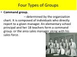 four types of groups