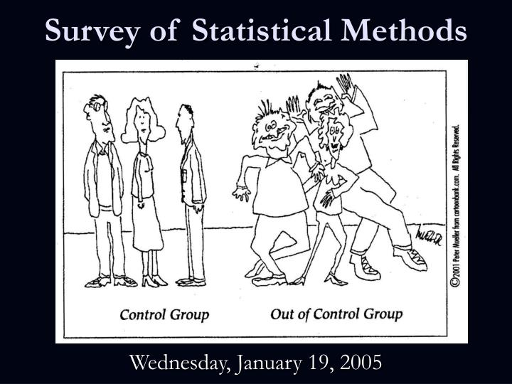survey of statistical methods n.