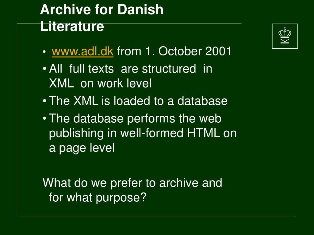 Archive for Danish Literature