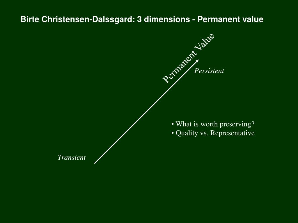 Birte Christensen-Dalssgard: 3 dimensions - Permanent value