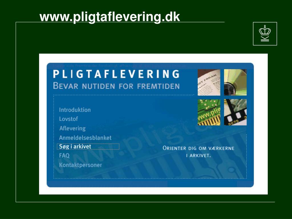 www.pligtaflevering.dk