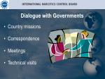 dialogue with governments