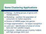 some clustering applications
