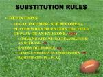 substitution rules1
