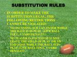 substitution rules4