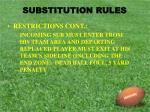substitution rules5