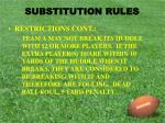 substitution rules8