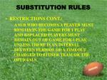 substitution rules9