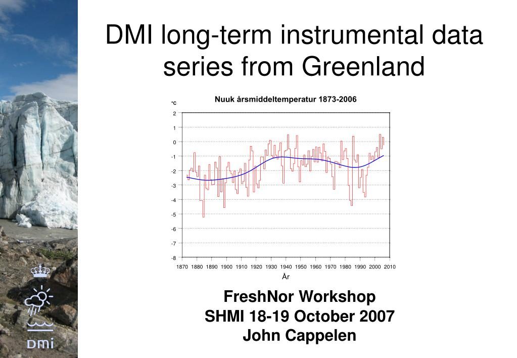 dmi long term instrumental data series from greenland l.