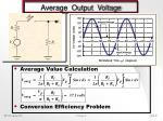 average output voltage
