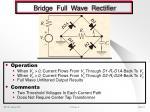 bridge full wave rectifier