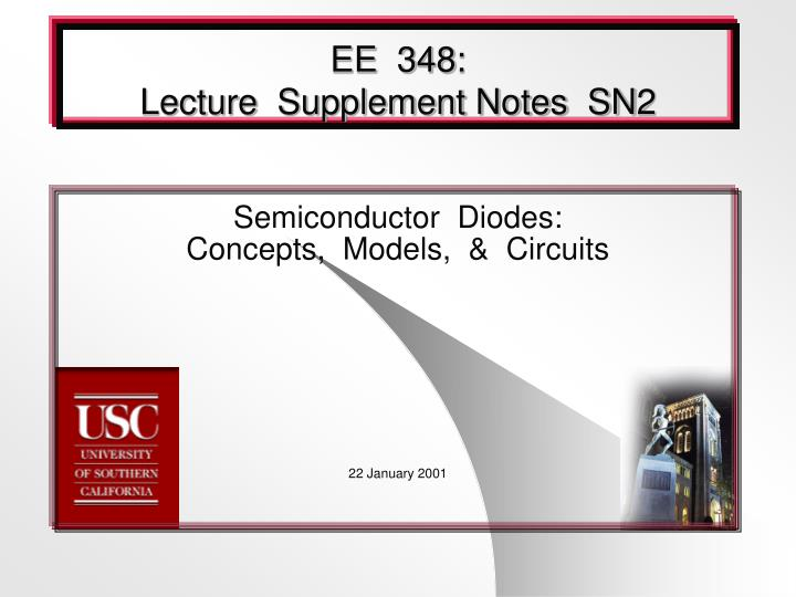 ee 348 lecture supplement notes sn2 n.
