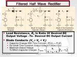 filtered half wave rectifier