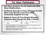 full wave performance
