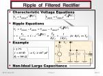 ripple of filtered rectifier