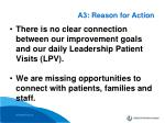 a3 reason for action