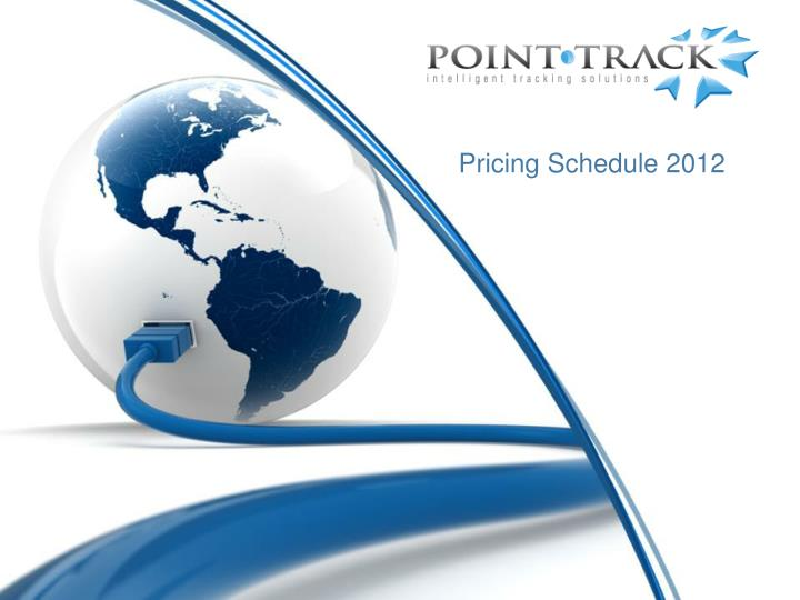 pricing schedule 2012 n.