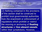 327 60 local regulations limitations1