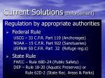 current solutions enforcement