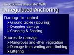 the problems associated with unregulated anchoring1