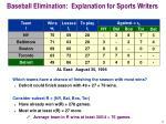 baseball elimination explanation for sports writers1