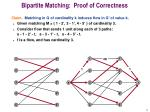 bipartite matching proof of correctness
