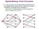 bipartite matching proof of correctness1