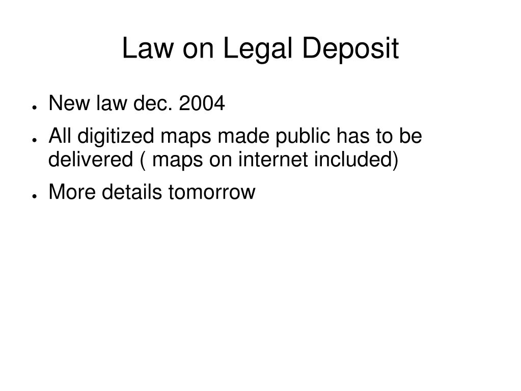 Law on Legal Deposit
