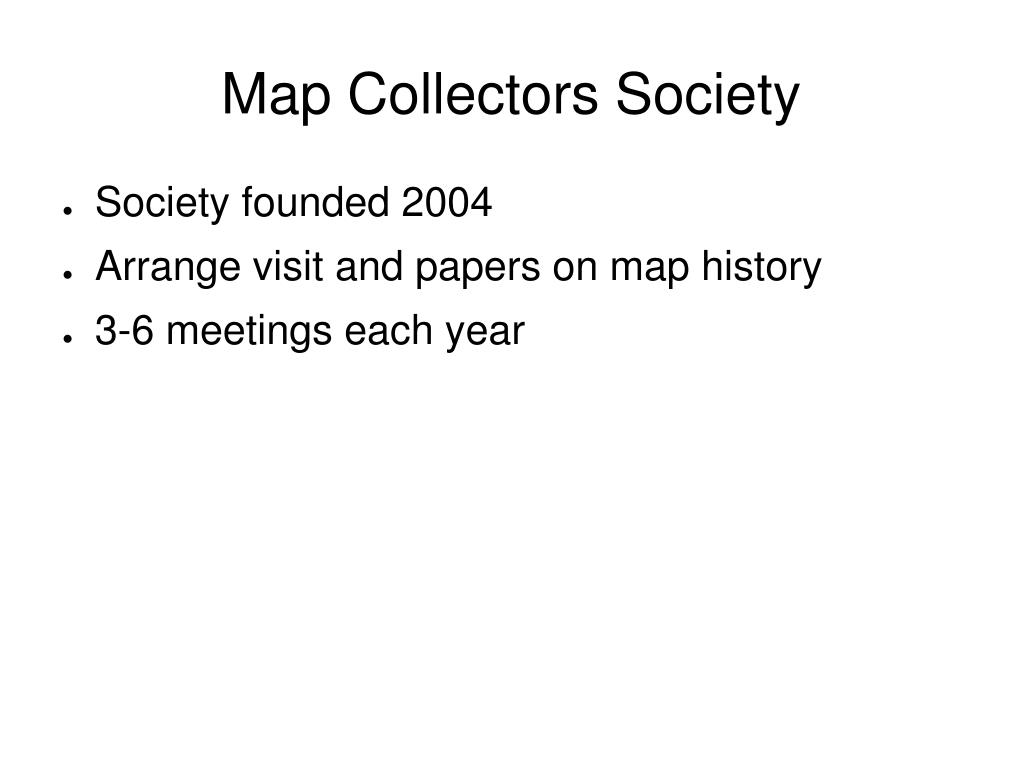 Map Collectors Society