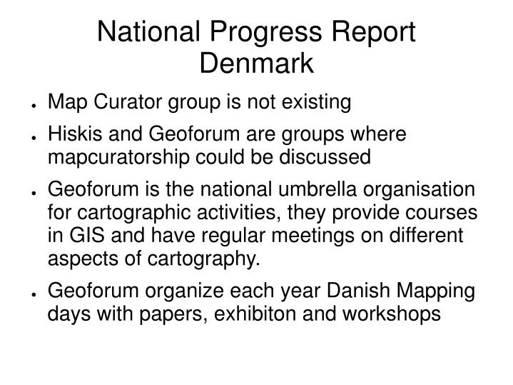 National progress report denmark
