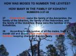 how was moses to number the levites1