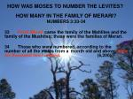 how was moses to number the levites2