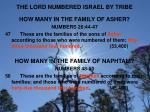 the lord numbered israel by tribe4