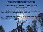 the lord s promise to jacob