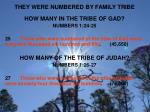 they were numbered by family tribe1