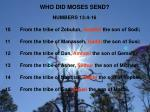 who did moses send1