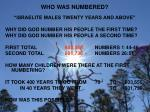 who was numbered
