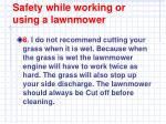 safety while working or using a lawnmower7
