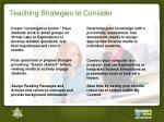 teaching strategies to consider