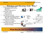 wireless and hearing aids why