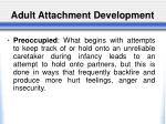 adult attachment development