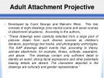 adult attachment projective