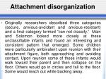 attachment disorganization