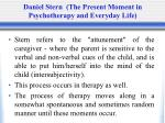 daniel stern the present moment in psychotherapy and everyday life