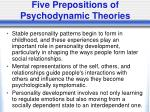 five prepositions of psychodynamic theories1