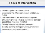focus of intervention1