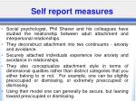 self report measures