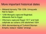 more important historical dates