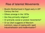 rise of islamist movements